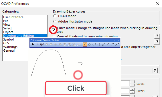 Change to Straight Line Mode