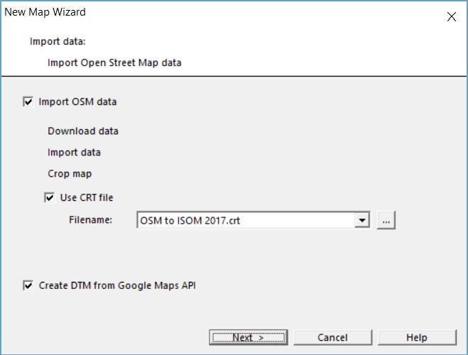 New Map Wizard - OCAD Wiki - English