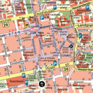 Stadtkarte Darmstadt, Vermessungsamt Darmstadt