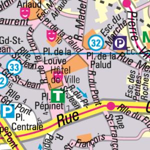 Stadtkarte von Lausanne, Orell Füssli
