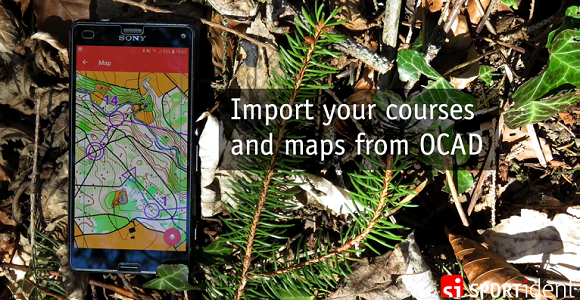 Import your coruses and maps from OCAD