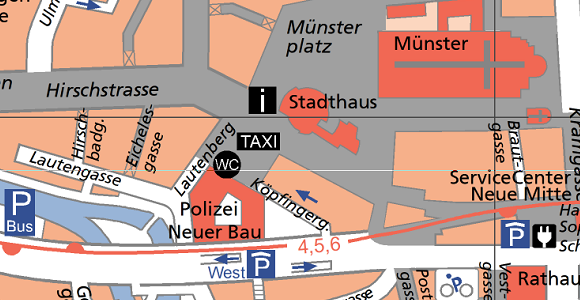 City Map of Ulm, made with OCAD
