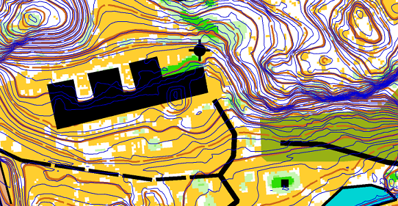 Extract of autogenerated map with Sweden open data